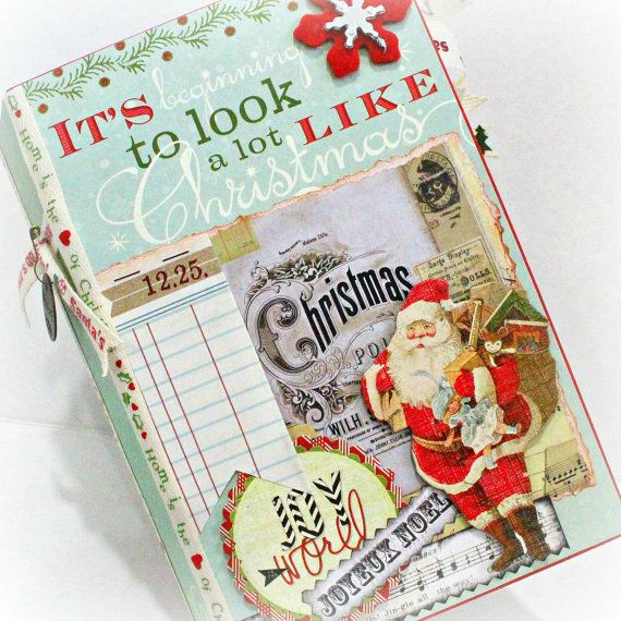 It's BEGINNING to LOOK A Lot Like CHRISTMAS Interactive Scrapbook Scrapbooking Chipboard Album