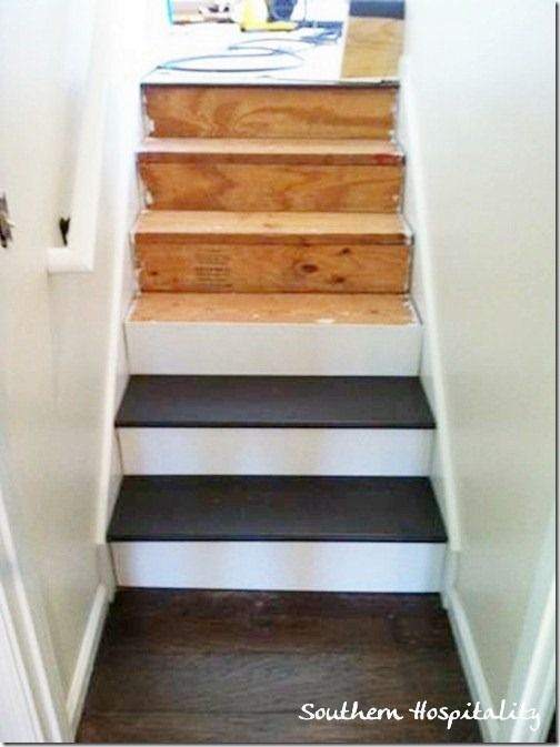 Valspar Porch and Floor paint in satin Fired Earth ? painted pine stairs down