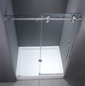 VG6041CHCL48WM - 48-inch Frameless Shower Door - modern - showers - new york - by VIGO