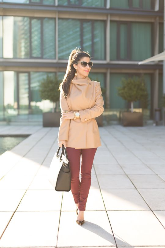 Ted Baker Camel Coat // Ted Baker Jeans // Christian Louboutin Iriza Leopard Shoes // Michael Kors Selma Tote (smaller version here) // Stel...