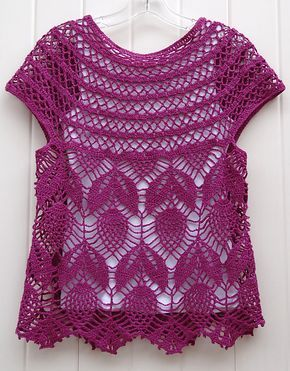 Ravelry: Project Gallery for Jamie - short sleeve vest pattern by Vicky  Chan Lots of options.