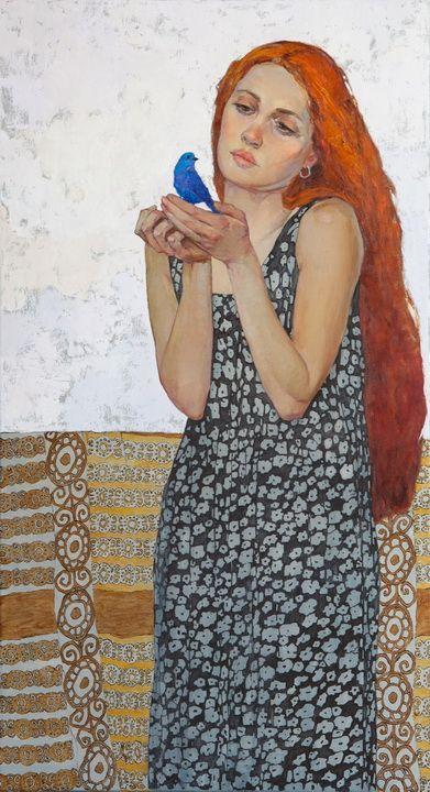 Blue Bird by Victoria Kalaichi Redheads FTW!