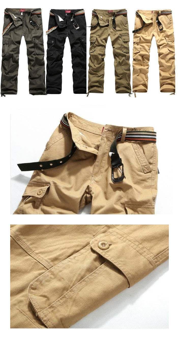 Pantalon Homme Cargo Essential Men Fashion Poches Militaire BeigePantalon cargo classique et essentiel dans la garderobe. Il est toujours tendance et s'associe avec tout. Ceinture non comprise. Existe en 4coloris : noir - vert - army yellow - beige (le plus clair) Matière : Coton.