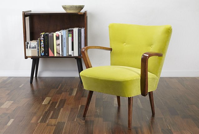 Vintage cocktail armchair. #viremo #50s #60s #70s #Midcentury #Vintage #Retro #Cocktail_Chair www.viremo.co.uk