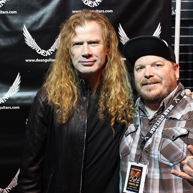 For those 27.2 seconds it was awesome to meet #davemustaine #megadeth and thank him for his music