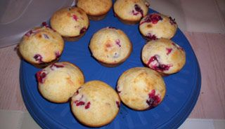 *** Muffins aux canneberges