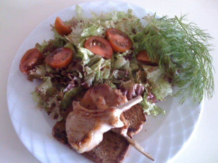 Lamb chops with garden salad | FROM MY KITCHEN | Pinterest