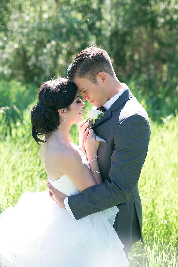 Bride and Groom Pose | Summer Wedding | Low Bun | Grey White Theme