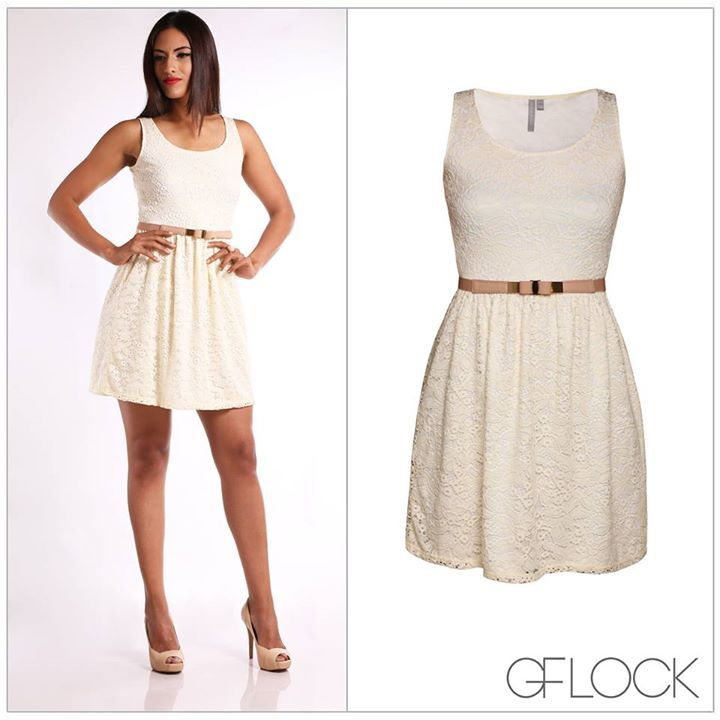 white lace mini dress with brown belt dress mania