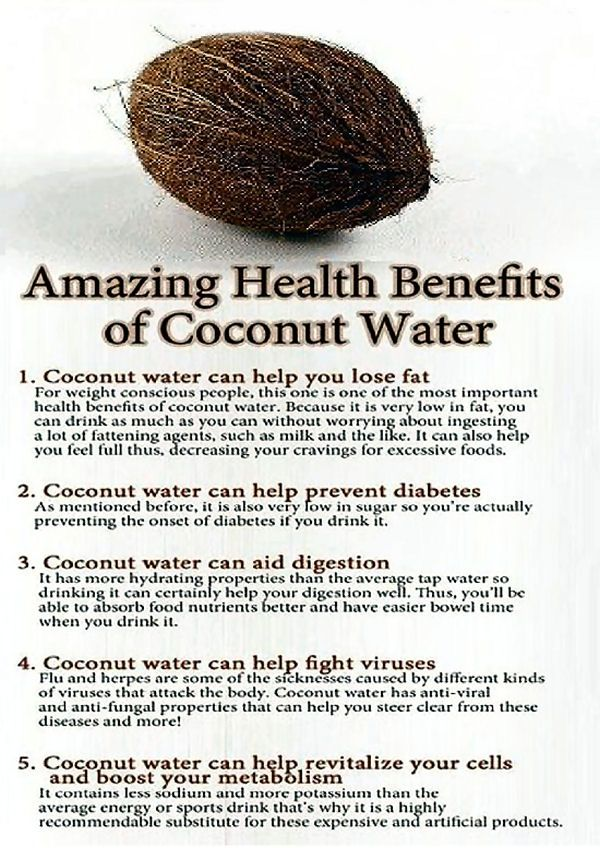 Amazing Health Benefits of Coconut Water.