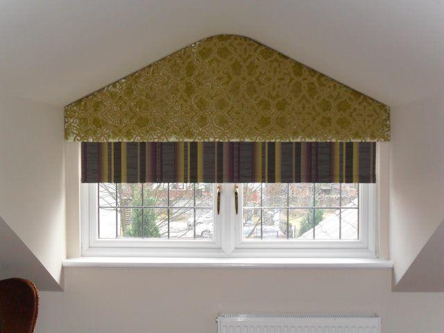 Odd Shape Curtain Pelmets To Fit Dormer Attic Windows This Gives An Awkward Sha Attic Awkward Curtain Do In 2020 Triangle Window Shaped Windows Window Coverings