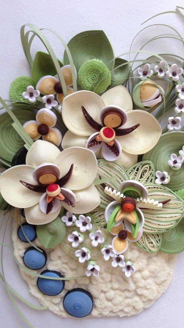 орхидея квиллинг фото сайте есть блог
