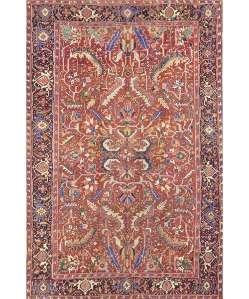 "Antique Persian Heriz Rug NA 003-Design# 455, Size- 7'-4"" x 10'-6""  #carpet #rugs #flooring #office #home #decoration #bedroom #livingroom #diy #handmade #best #cleaning #modern #design #runner #print"