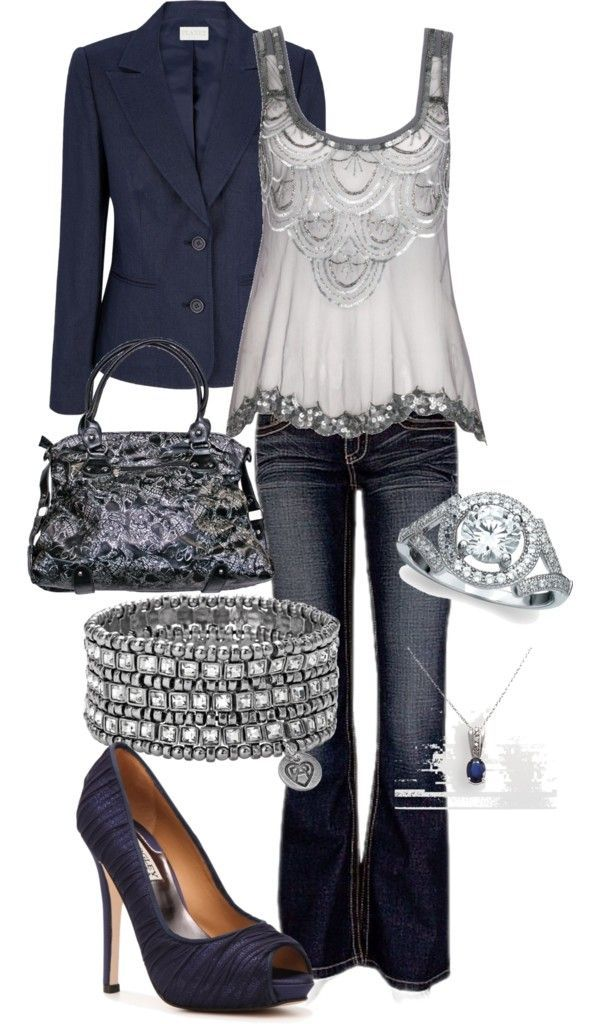 """night on the town bling"" by satcmama on Polyvore. I love this outfit minus the ..."