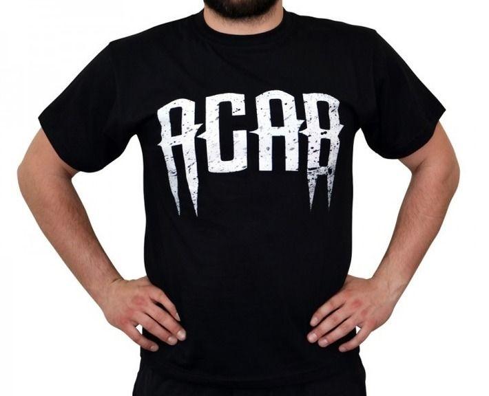 Koszulka 'ACAB' - przód ---> Streetwear shop: odzież uliczna, kibicowska i patriotyczna / Przepnij Pina!