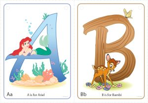 FREE Disney Character Alphabet Printables from Disney Preschool