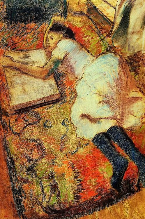 Edgar Degas, Reading (ca. 1889)