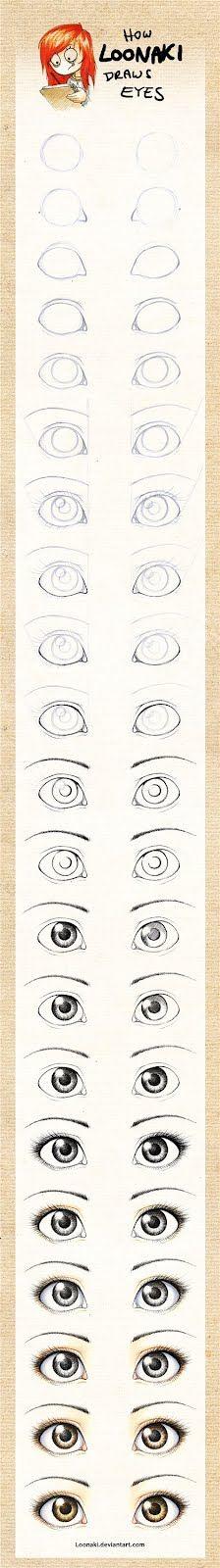PORCELANA FRIA Trynys design: Como dibujar y pintar ojos de muñecas