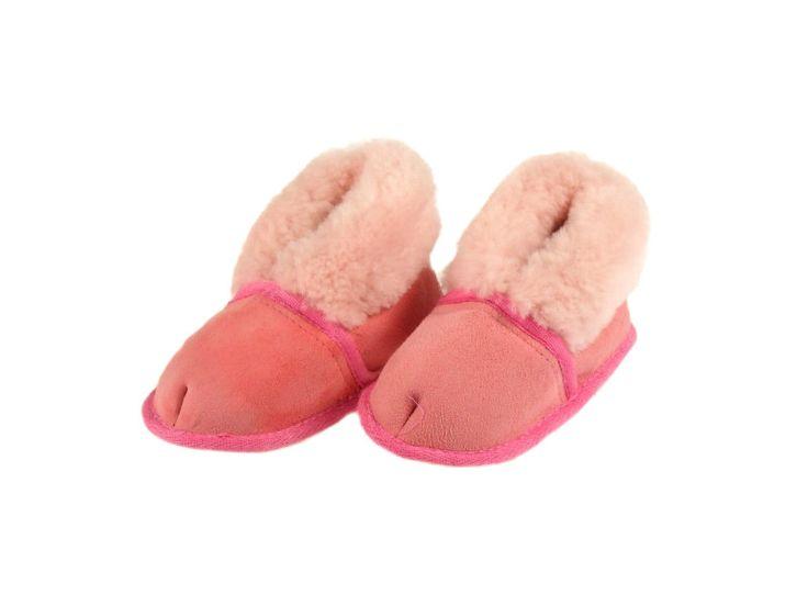 Ladies like pink! #Kinder #Hausschuhe aus echtem #Lammfell, Gr. 24 - 25