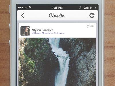 iphone app news feed ui view screen design