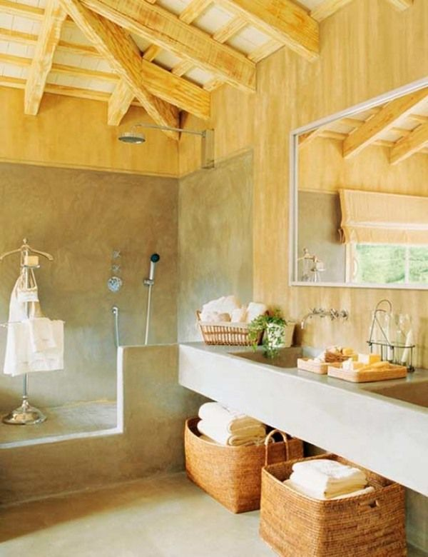ein rustikales badezimmer fr eine entspannende atmosphre - Fantastisch Fabelhafte Dekoration Stilvoll Klebefliesen Kuche Vorstellung
