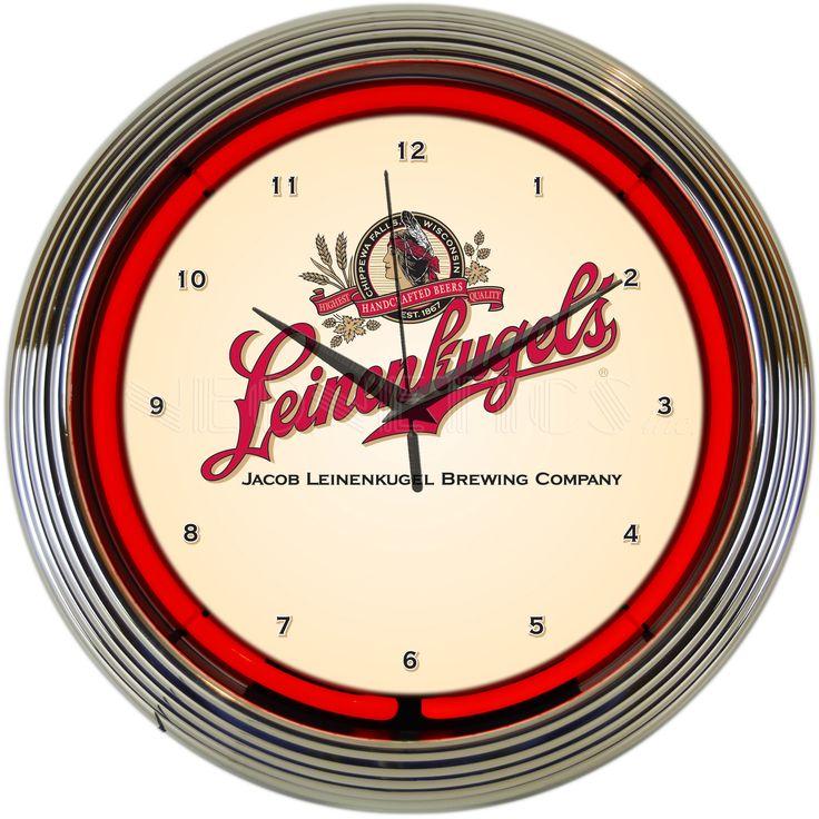 """15"""" Leinenkugels Beer Neon Clock"""