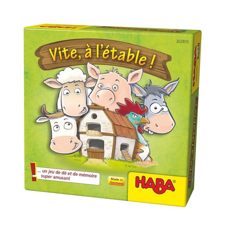 Jeu de société Vite à l'étable Haba pour enfant de 4 ans à 8 ans - Oxybul éveil et jeux   Jeux ...