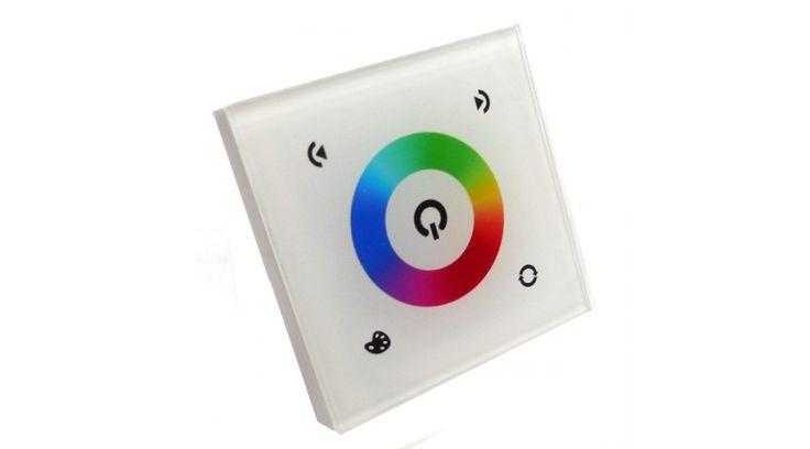 Led fali RGB vezérlő érintőképernyővel (144W) fehér,Led szalag vezérlők,8.490 Ft