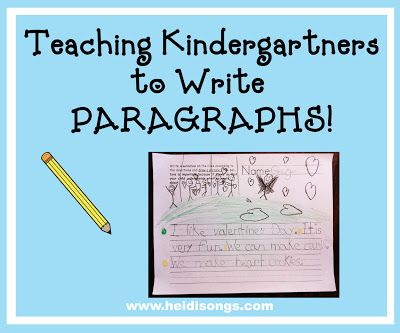 """Teaching Kindergartners to Write Paragraphs! This post has step by step instructions on how to get kids started writing a two or three sentence """"paragraph."""""""