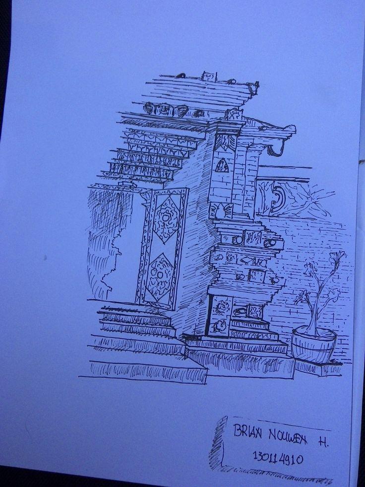 "live sketch ""masjid kota gede"""