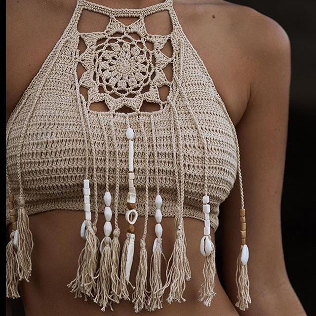 The Top 20 Worldwide Instagram Spots Of 2016 The dream catcher crop in sand $49 handmade hand beaded on model @l_cowcher