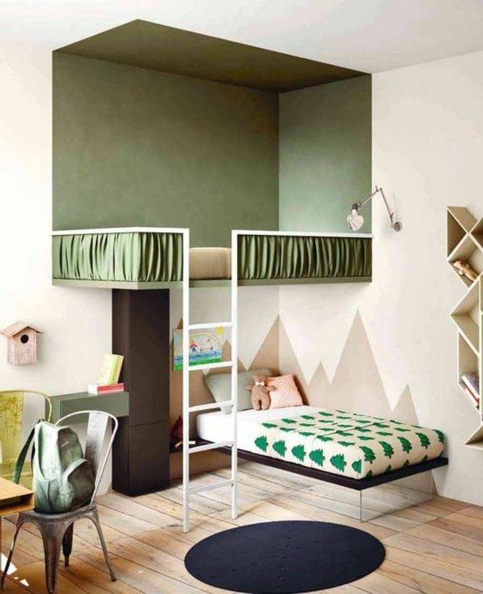 originale idee pour creer la plus belle chambre ado fille en beige et vert - Belle Chambre Ado