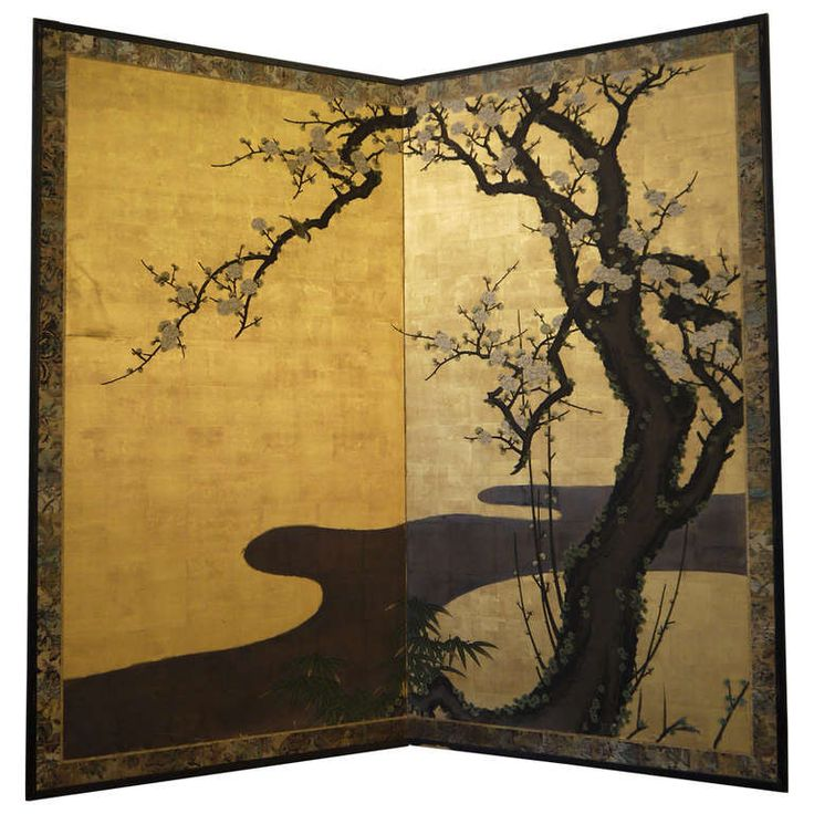Japanese Screen With Cherry Blossoms Cherry Blossoms Cherries - Cherry blossom room divider screen