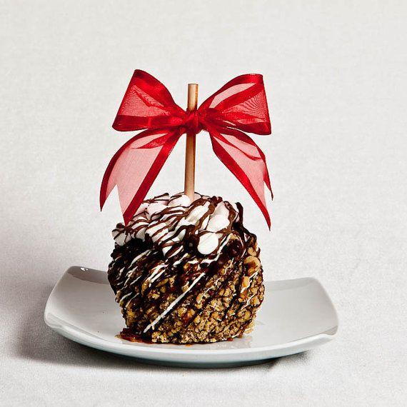 Camino rocoso manzana caramelo por BigBearChocolates en Etsy
