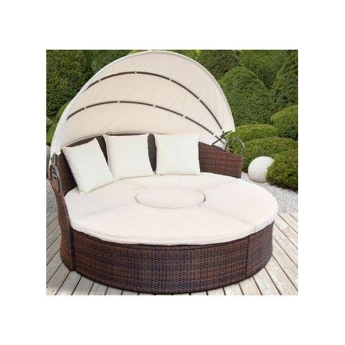 Aurinkosohva, 529,95€. Suuri aukeava moniosianen aurinkosohva,  joka käy myös täysiverisestä sängystä piristää pihamaata tai vaikka sisätiloja. Sängyssä monitoimisia ja muokkutuvia sohvaosia sekä hulppea ulkomuoto. Mukava paikka auringonottoon! Ilmainen toimitus! #aurinkosohva #sohva