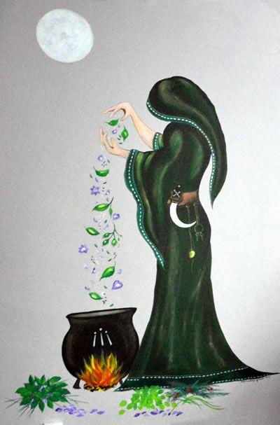 Magical Keridwen Room mural by Suzi Edwards-Goose