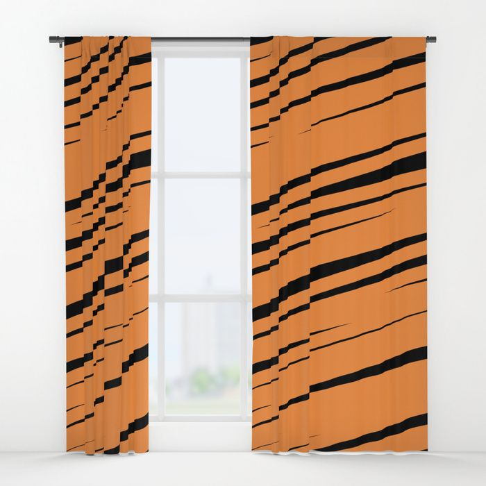 $79.99 Our drapes transform a neglected essential into an awesome statement piece. #curtains #drapes #home #decor #window #lines #stripes #scribble #doodle #modern #creative #pattern #orange #black #abstract #buyart #society6 #gift #giftideas