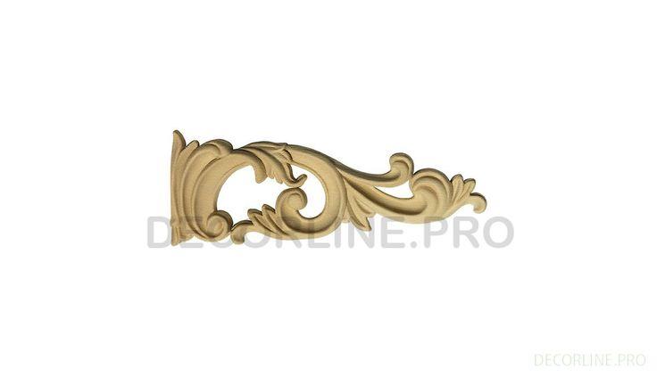 ОРНАМЕНТЫ из древесной пасты OR-53 Размер/Size: 57-155-12. Резной декор из древесной пасты, древесной пульпы, полимера, полиуретана, ППУ, МДФ, прессованный декор, декор из массива, декор из дерева