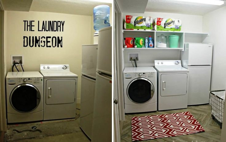 The Basement Laundry Room Doesn Have Lack Style