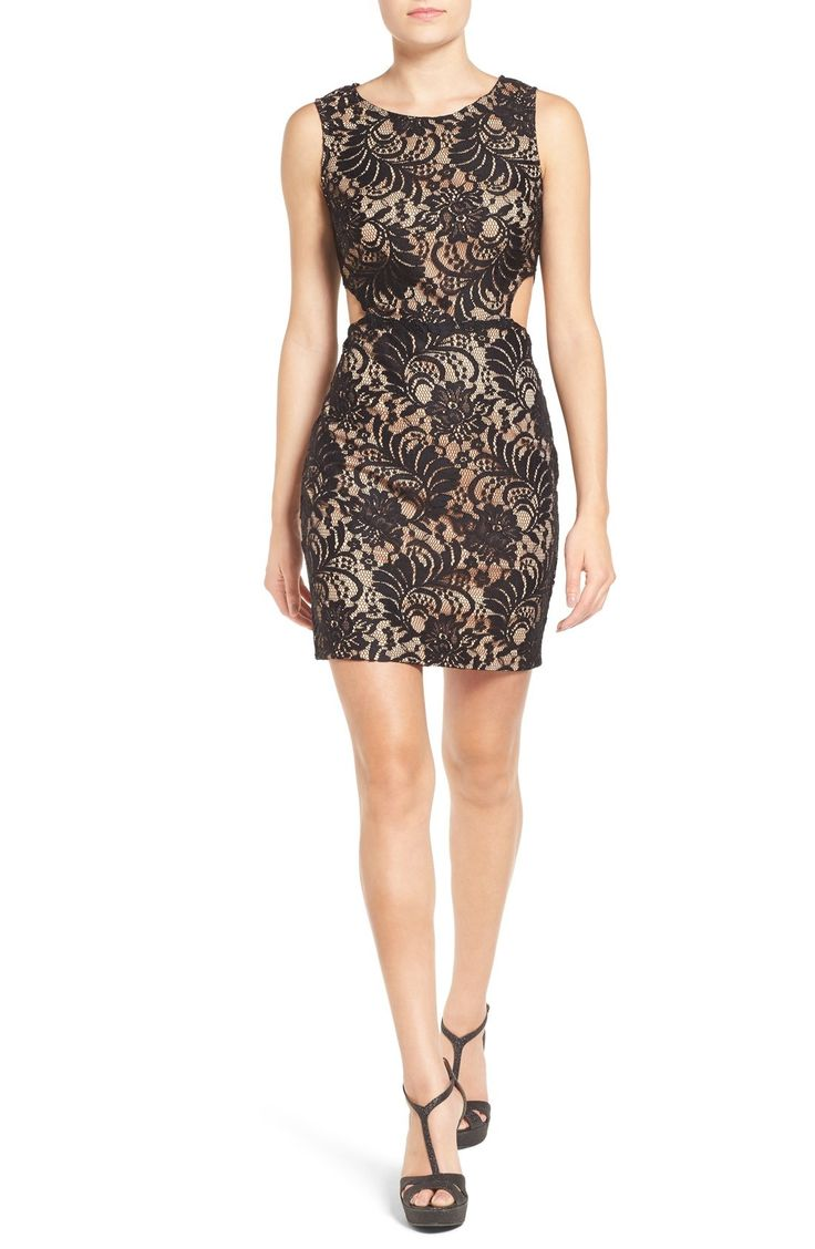 Way-In Illusion Lace Body-Con Dress available at #Nordstrom