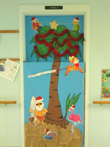Tropical Christmas Elementary Bulletin Boards Doors