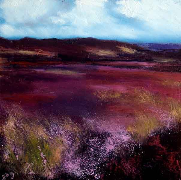 Irish Landscape  'Bog Heather'  Irish Landscape painting  Irish Art