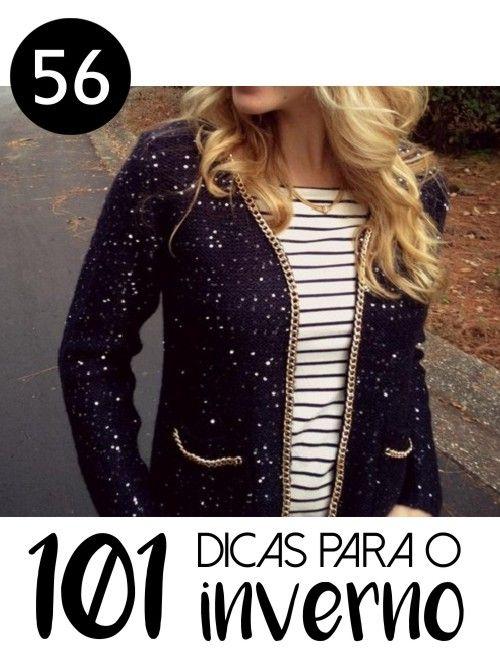 # 56 - CARDIGÃ COM CORRENTES -101 ideias de faça você mesmo para o inverno - Inspiração: customizar o cardigã basiquinho com correntes douradas
