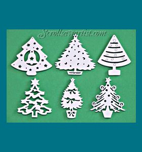 Scroll Saw Patterns :: Holidays :: Christmas :: Traditional ornaments :: Christmas tree ornaments #1 -