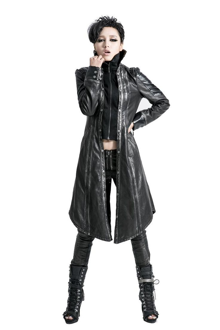 Y-422 Modern Wholesale Gothic Long Leather Duster Coat for Men and Women