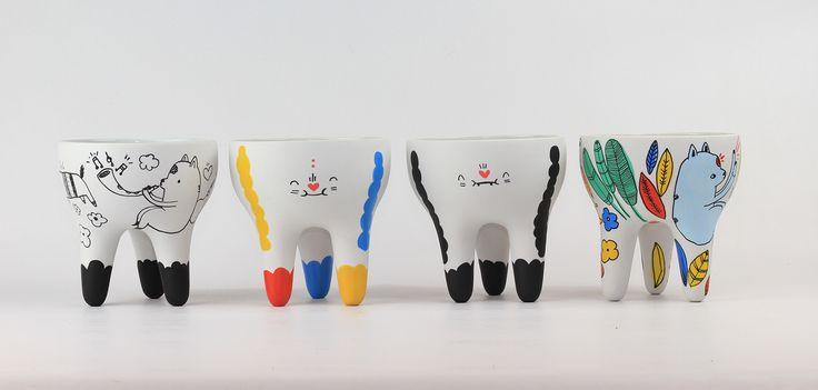Coleção - Vasos Ilustrados Maria Paz Yachan + Miriam Brugmann
