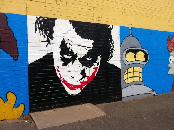 Street art in Plympton