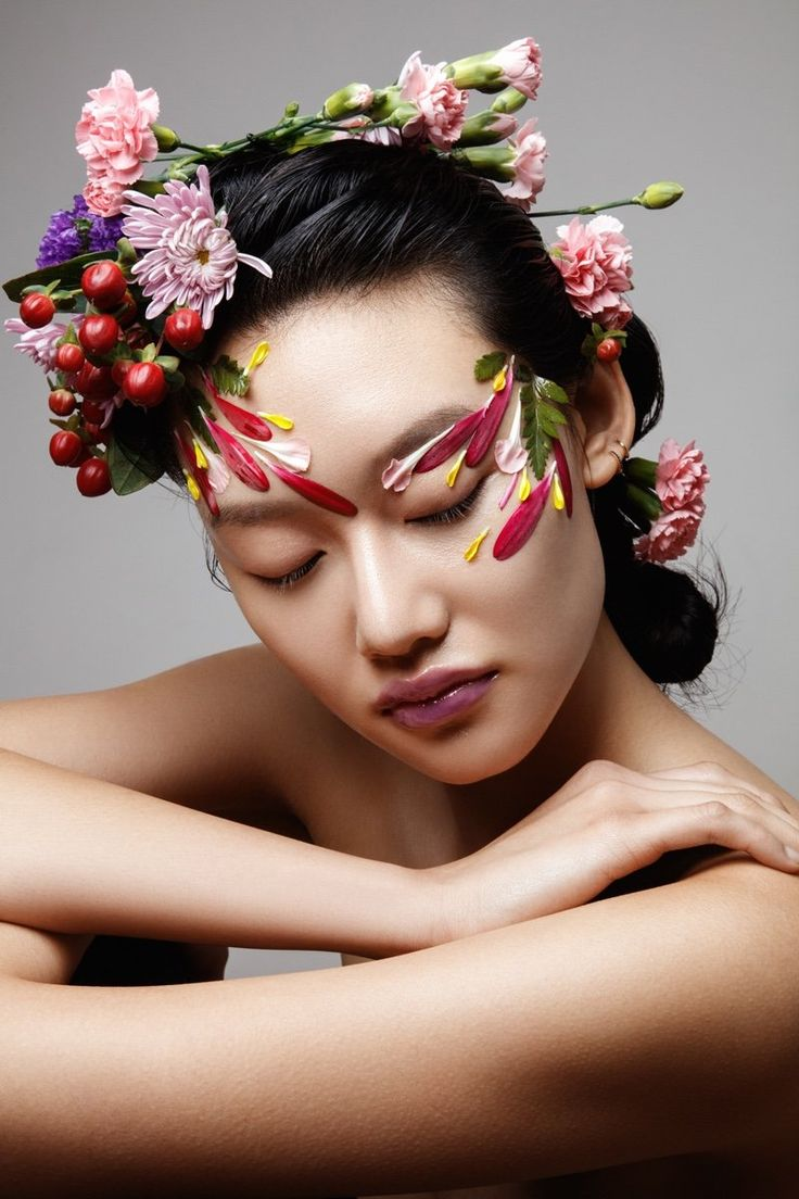 Flower power flower makeup flower photoshoot hair