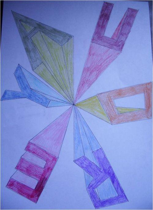 Pr Noms En Perspective Arts Visuels Cycle 3 Pinterest