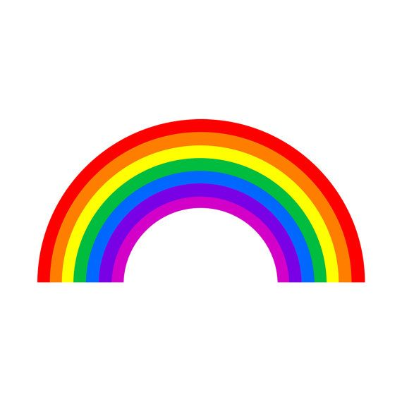 Rainbow Bumper Sticker 4 Quot X 2 Quot So Cute Rainbow